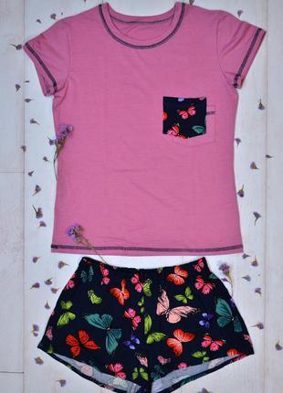 Стильная хлопковая пижама майка и шортики