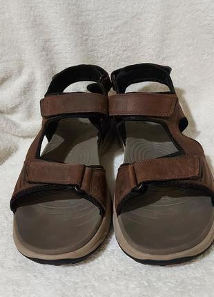 Босоножки сандали clarks 46p коричневые кожа анатомические