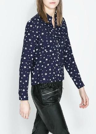 Блуза принт звезды р.56