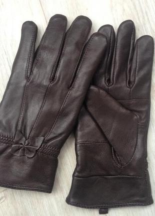 Новые кожаные коричневые перчатки. размер 8.
