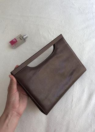 Кожаная сумочка на ланцюжку шкіряна сумка клатч