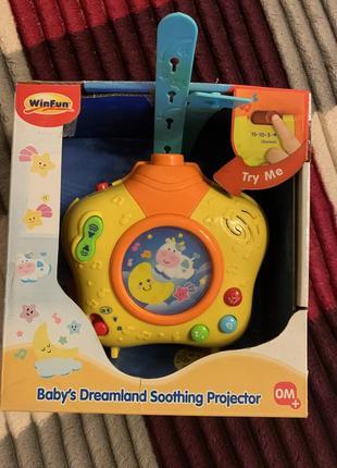 Музыкальный ночник с прожектором