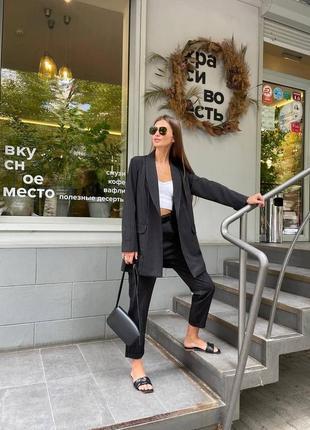 Женский костюм полоска ( пиджак и брюки )