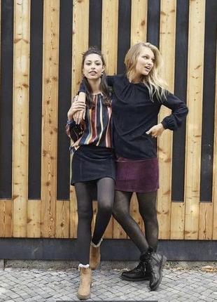 Новая вельветовая мини юбка вельвет міні-юбка esmara m/l