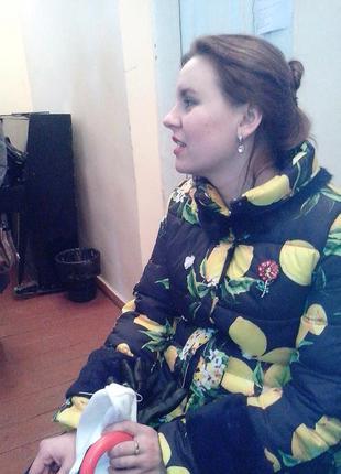 Куртка-пальто с лимонами
