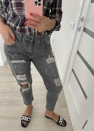 Джинсы. серые джинсы. размер с-м