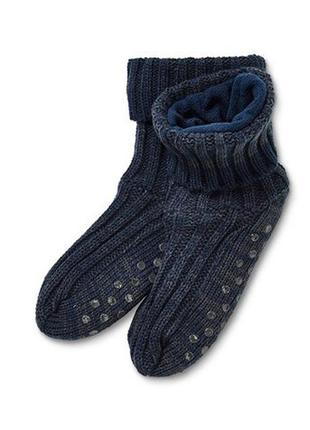 Теплые носки-тапочки на флисе унисекс, германия