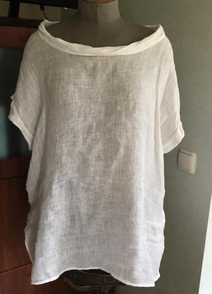 Классная блуза лён италия 🇮🇹 большой размер