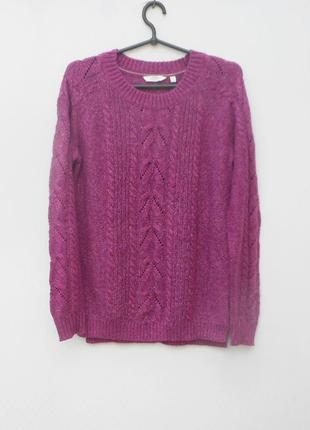Мягкий  вязаный свитер с косами с длинным рукавом fat face
