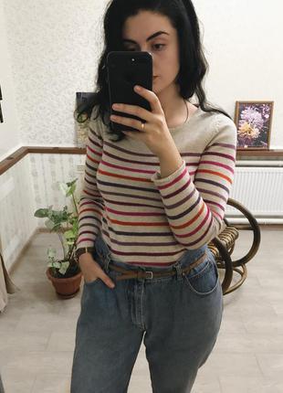 Обалденный свитер в разноцветную полоску h&m