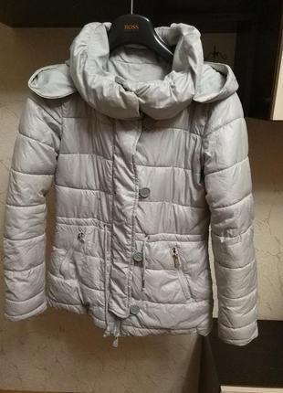 Куртка зимняя осеняя amisu двухсторонняя