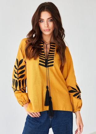 Новинка! очень крутая блузка-вышиванка