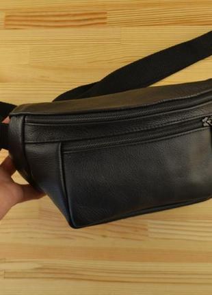 Кожаная поясная сумка сумочка бананка / натуральная кожа / натуральна шкіра