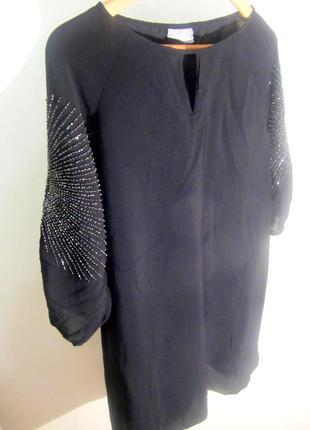Черное новое нарядное ,вечернее платье ,балахон,блестящее,коктейльное!распродажа!дешево!