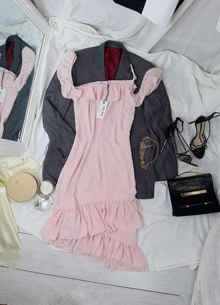 Платье с воланами внизу