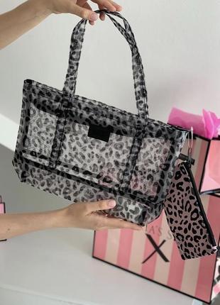 Пляжна сумка з косметичкою від victoria's secret