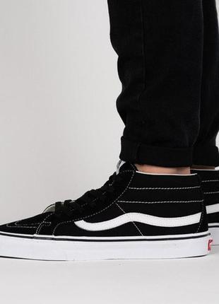 Sale vans черные черно-белые высокие кеды кроссовки