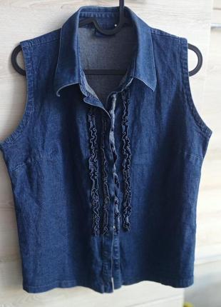 Джинсовая рубашка без рукавов biaggini