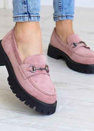 Пудровые броги (туфли)