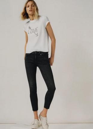 Черные джинсы от zara woman, 36, 38, 40, 42, 44р, оригинал, испания