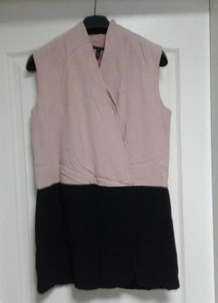 Платье-туника пудра