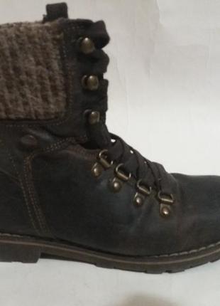 Ботинки кожаные  р. 35 осень, еврозима