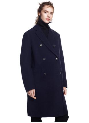 Премиальное шерстяное бордовое пальто от jil sander