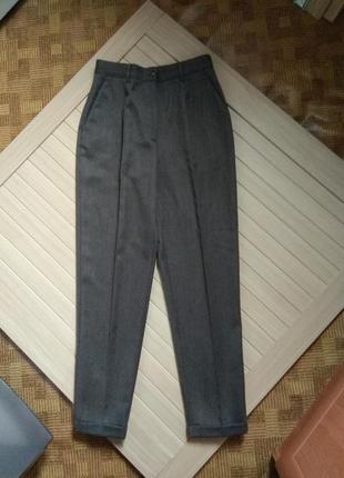 Брюки штаны шерстяные из шерсти 100% шерсть bublos италия винтаж ☕ наш 44-46рр / есть нюанс