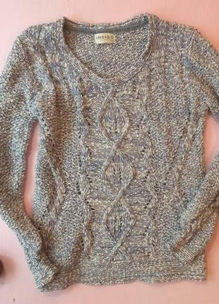 Sale меланжевый свитер, джемпер хлопок marks&spencer