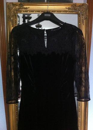 Платье оригинал вечернее бархат кружево