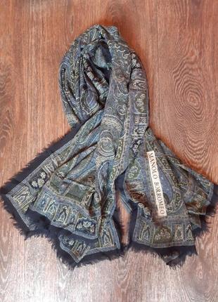 Платок шарф шаль manolo borromeo шерсть+шелк