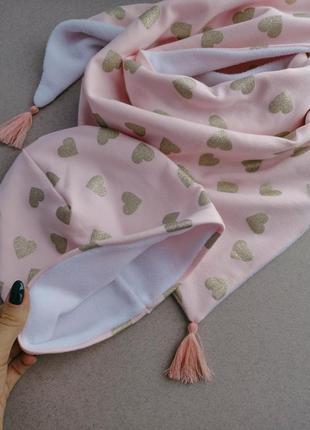 Шапочка + шарфик хустинка