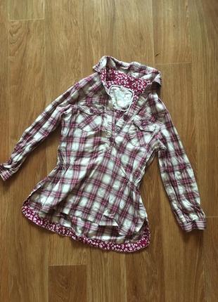 Коттоновая рубашка туника 2-3 года