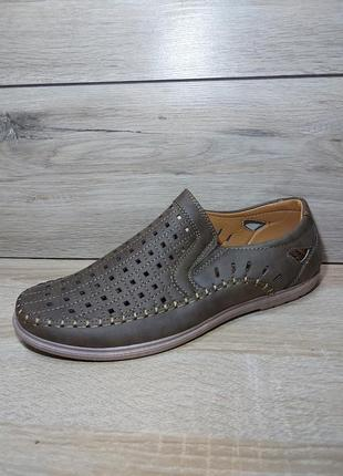 Туфли мужские 🍋 босоножки перфорация классика мокасины чоловічі сандалии