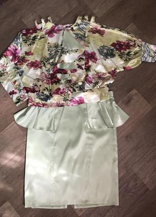 Костюм блуза и юбка