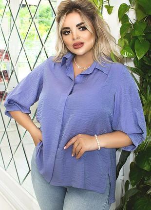 Блуза прямого силуэта, рубашка льняная