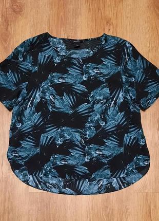 Блуза с тропическим мотивом minki размер s