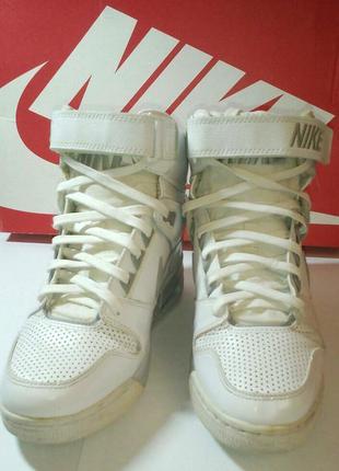 Кроссовки сникерсы зимние белые кожа оригинал nike air max