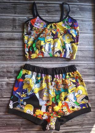 Пижама топ и шорты симпсоны