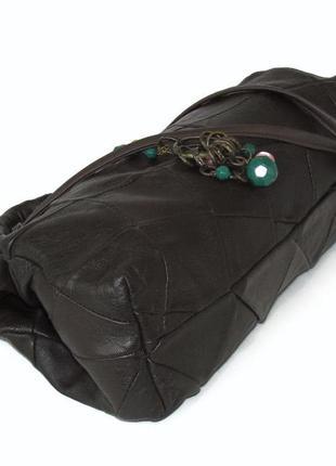 Интересная сумка саквояж, натуральная кожа3