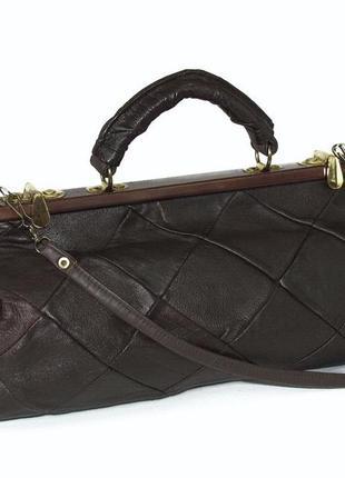 Интересная сумка саквояж, натуральная кожа2