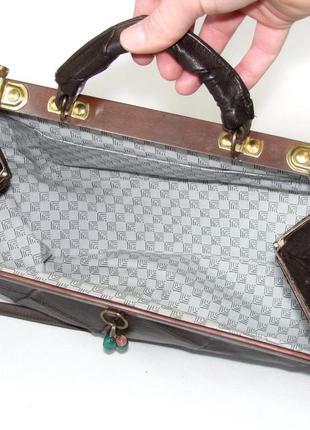 Интересная сумка саквояж, натуральная кожа5