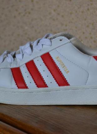 Кроссовки adidas superstar red white