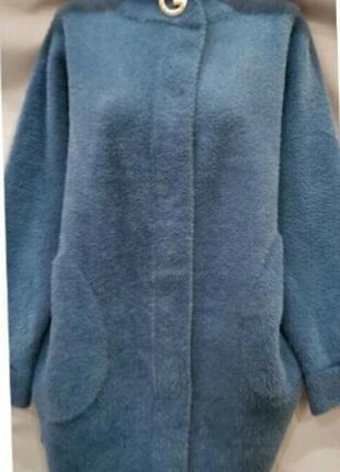 Стильное пальто альпака 50-58 р расцветки!