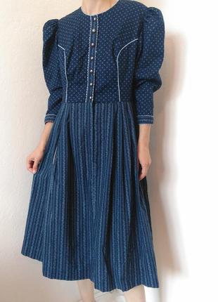 Винтажное платье австрия міді плаття вінтаж сукня zara mango bershka cos h&m