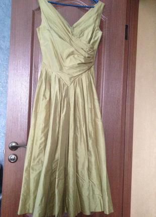 Вечернее коктельное платье laura ashley из натурального шелка.