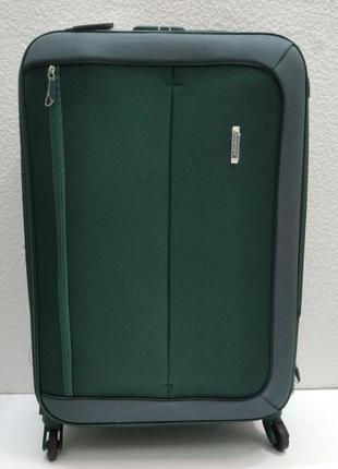 Тканевый чемодан verona средний (зеленый) 21-08-027