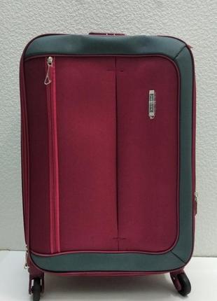 Тканевый чемодан verona маленький (бордовый) 21-08-028