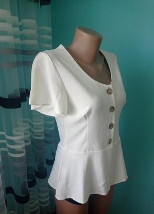 Нарядная блуза, классическая блуза, блузка с баской кофта футболка
