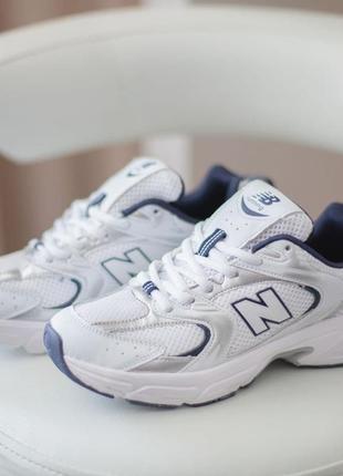 Женские кроссовки new balance 530 white/blue